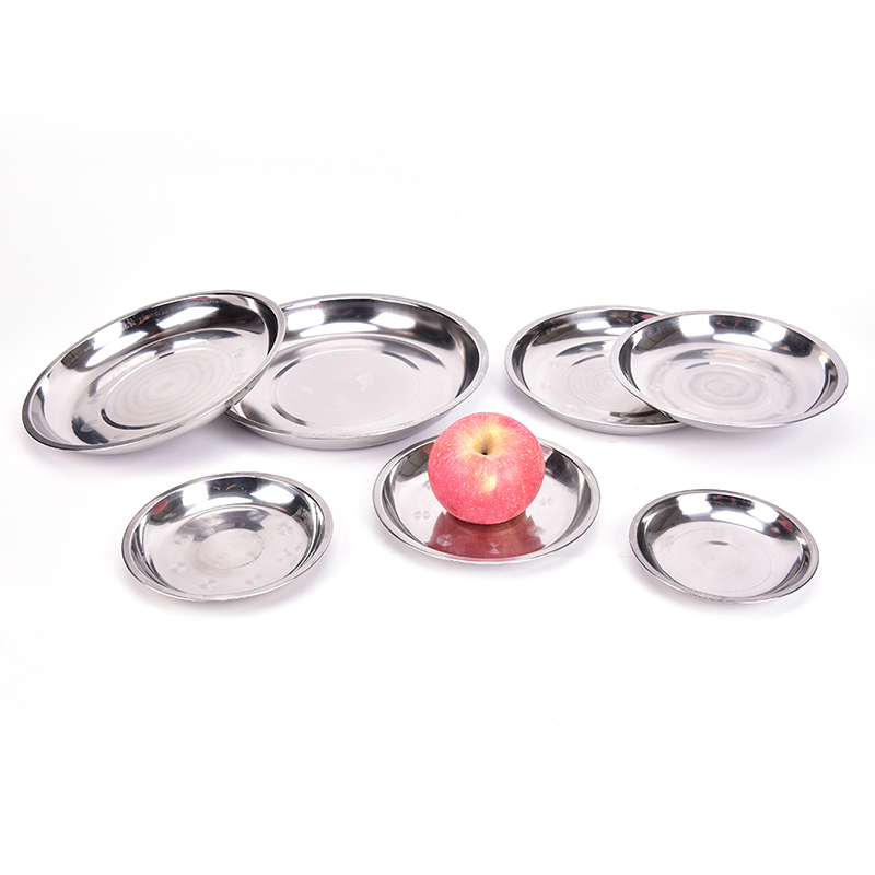 Camping 14-26cm Dia Stainless Steel Tableware Dinner Plate Food Container Thanksgiving Day