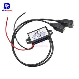 Image 4 - Diymore módulo de fuente de alimentación de DC DC, 12V a 5V, 3A, 15W, para coche, macho, hembra, USB, Mini convertidor Buck de reducción