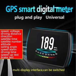 Image 2 - OBD2 HUD T800 Car Head Up Display GPS Speedometer  Smart driving Computer GPS Satellites Speed Work Universal Auto