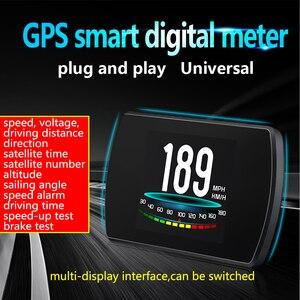 Image 2 - OBD2 HUD T800 Car Head Up Display Tachimetro GPS Intelligente del Computer di guida GPS Satelliti Velocità Lavoro Auto Universale
