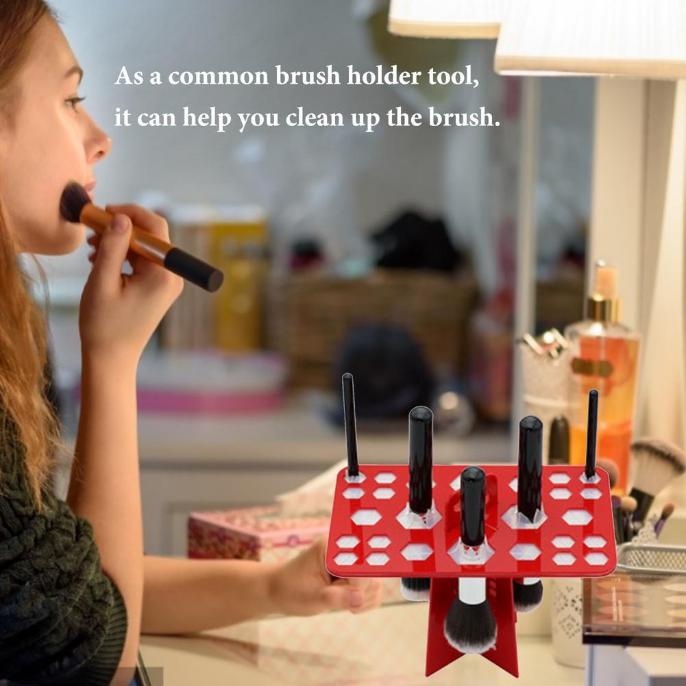 prego escovas expositores secagem suporte armazenamento maquiagem ferramenta