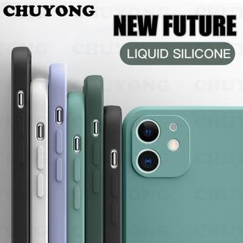Nouvelle coque carrée en Silicone liquide pour iPhone SE 2020 8 7 6 6S Plus housse de Protection pour iPhone 11 Pro Max XR XS X coque de téléphone