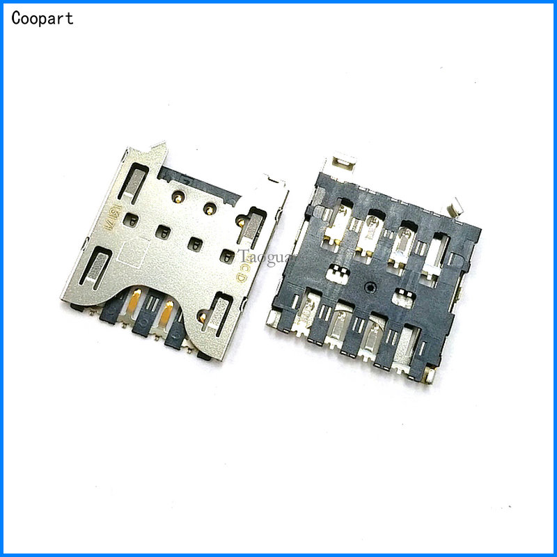 2pcs/lot Coopart New SIM Card Socket Reader Tray Holder Slot Replacement For Blackberry Q10 Z10