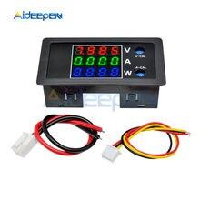 Voltímetro Digital DC 100V 10A 1000W, amperímetro, vatímetro, probador de corriente de voltaje de 4 dígitos, Monitor de potencia, pantalla roja, verde y azul