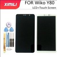 5.99 wiwiwiko y80 display lcd + montagem da tela de toque 100% original novo testado digitador substituição do painel vidro para wiko y80 telefone|LCDs de celular| |  -