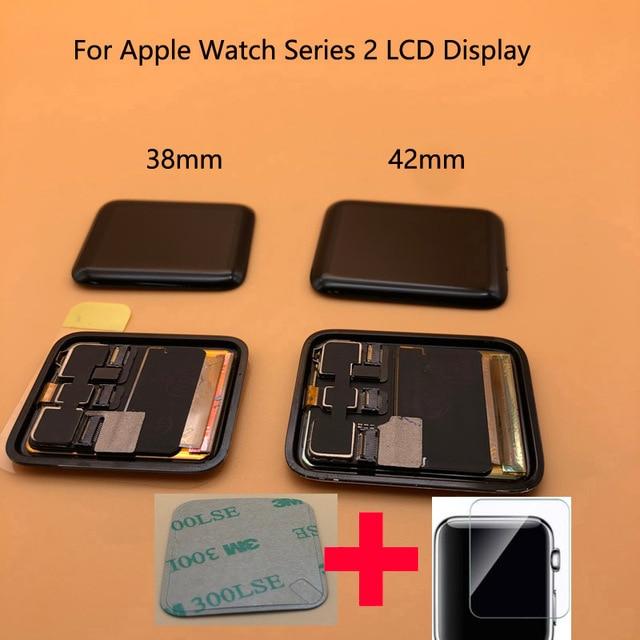 Pantalla LCD para Apple Watch Serie 2, prueba de 100%, Digitalizador de Pantalla táctil, Serie 6, 40mm, 44mm, negra