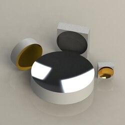 GM13-K9 flat concave spherical mirror diameter 75 mm (ultraviolet aluminium film + protection) UVAL