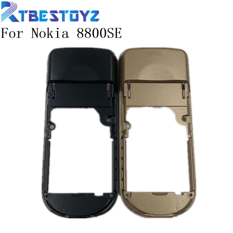 RTBESTOYZ For Nokia 8800SE Black Gold Housing Middle Frame Replacement For Nokia 8800 Sirocco