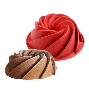 Большая спиральная форма пищевого силикона в комплекте форма для торта сковорода 3d рифленая форма для торта хлебобулочные жаропрочные Инс...