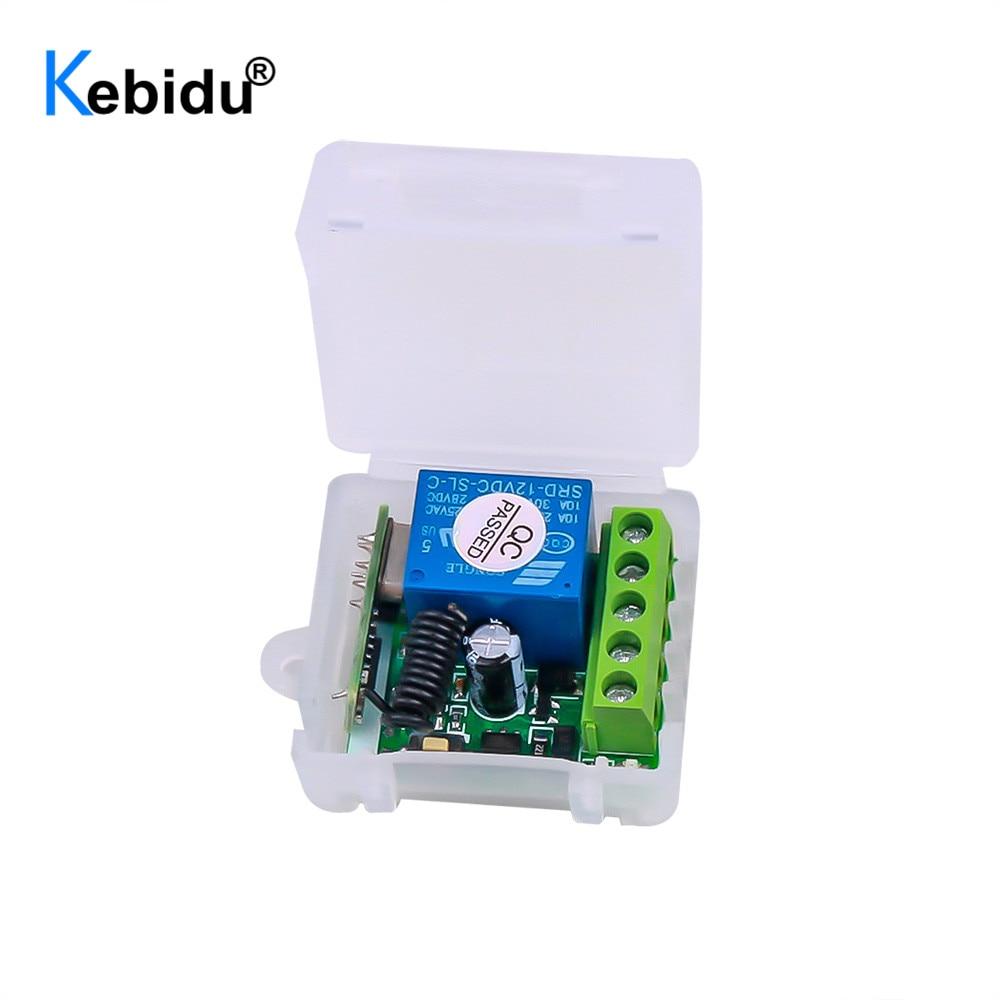 KEBIDU 433 МГц беспроводной пульт дистанционного управления переключатель постоянного тока 12 В 1 канал реле RF 433 МГц приемный модуль для обучени...