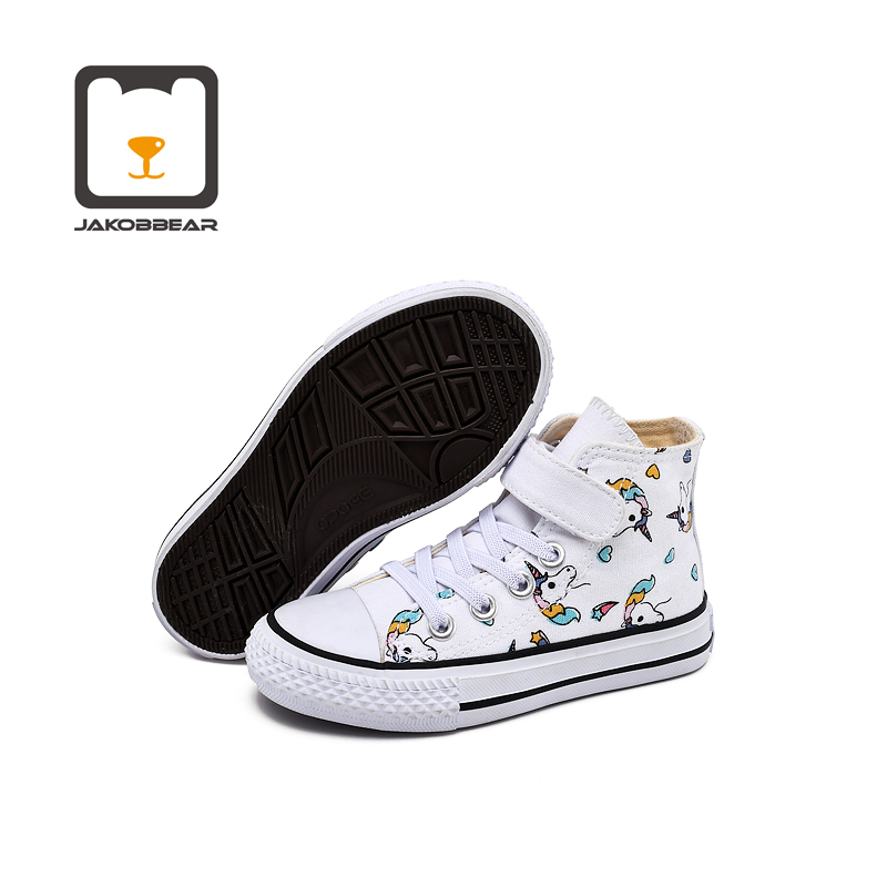 JAKOBBEAR Kids Shoes For Girls Boys Children Canvas Shoes Sneakers