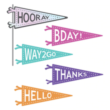 HELLO BDAY HOORAY THANKS Hot Foil Plate for Scrapbooking and Cards Making Paper Craft