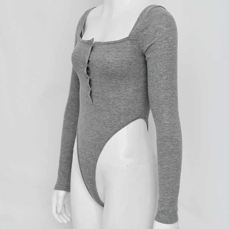 Lato jesień body kobiety odzież moda streetwear z długim rękawem off shoulder sexy body kobieta one piece