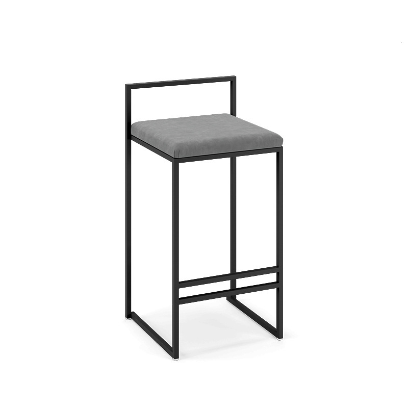 Nordic Iron Bar Chair Leisure Dessert Milk Tea Shop Bar Chair Bar Restaurant High Footstool