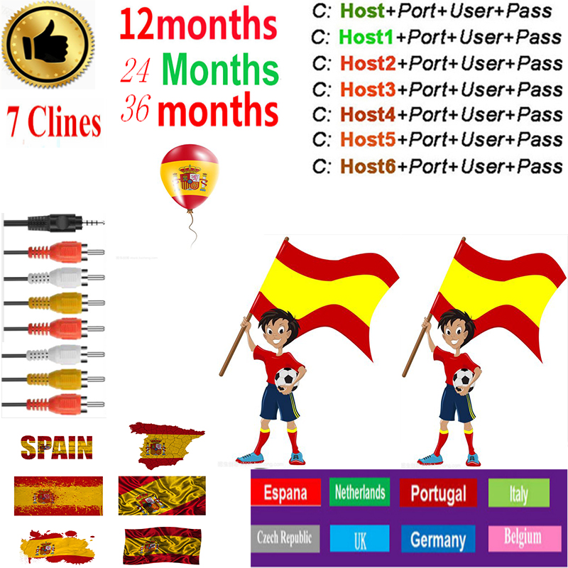 Cccam Europa Server  36month Spain Portugal Germany Poland Satellite Tv Receiver 7Clines For DVB-S2  X800S V7  V7s V8 Nova V9
