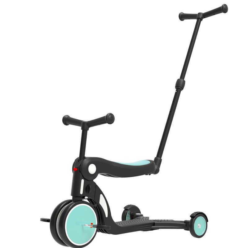 5 In 1 Multifunctionele Kinderen Trolley, Scooter, Driewieler Kinderen Fiets Kan Zitten, Liggen, 2020