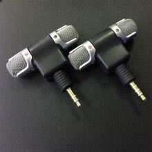 Mini microfone estéreo com conector 3.5mm, microfone para gravação de celular e estúdio, entrevista para smartphone iphone e android