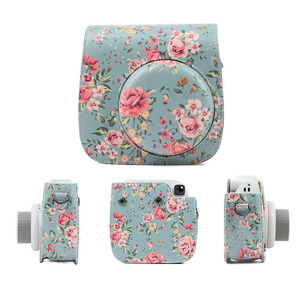 Image 2 - Shoulder Camera Protective Case Colorful Patterns Leather Camera Bag For Fujifilm Instax Polaroid Mini 8/ Mini8+/ 9 Handbags