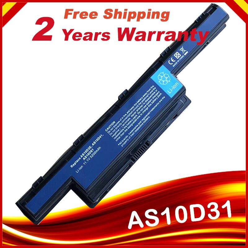 Laptop batarya için Acer Aspire V3 5741 5742 5750 5551G 5560G 5741G 5750G AS10D31 AS10D51 AS10D61 AS10D71 AS10D75 AS10D81