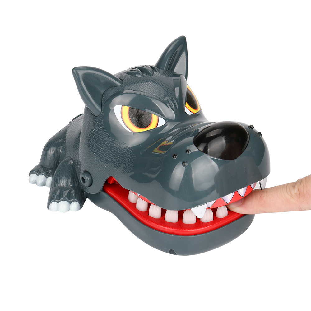 Large Bulldog Crocodile Shark Mouth Dentist Bite Finger Game Funny Novelty Gag Toy for Kids funny Children Play jokes adults