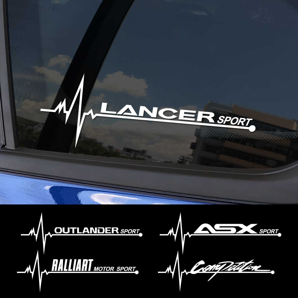 2 Stuks Sport Auto Vinyl Decals Auto Side Window Sticker Voor Mitsubishi Lancer 10 3 9 Ex Outlander 3 Asx l200 Ralliart Accessoires