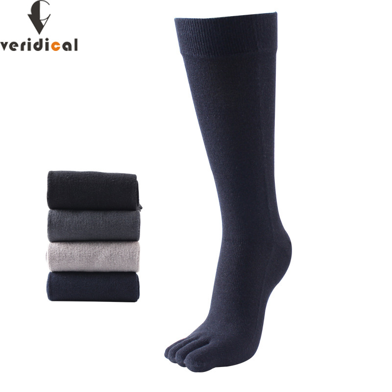 VERIDICAL 2020 Hot Sale Five Fingers Socks Long Combed Cotton Good Quality Compression Thermal Socks 5 Finger Socks Calcetine