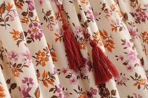 Image 5 - Vintage chic fashion Hippie women  floral print  tassel beach Bohemian skirt High Elastic Waist  Boho rayon Maxi Skirt Femme