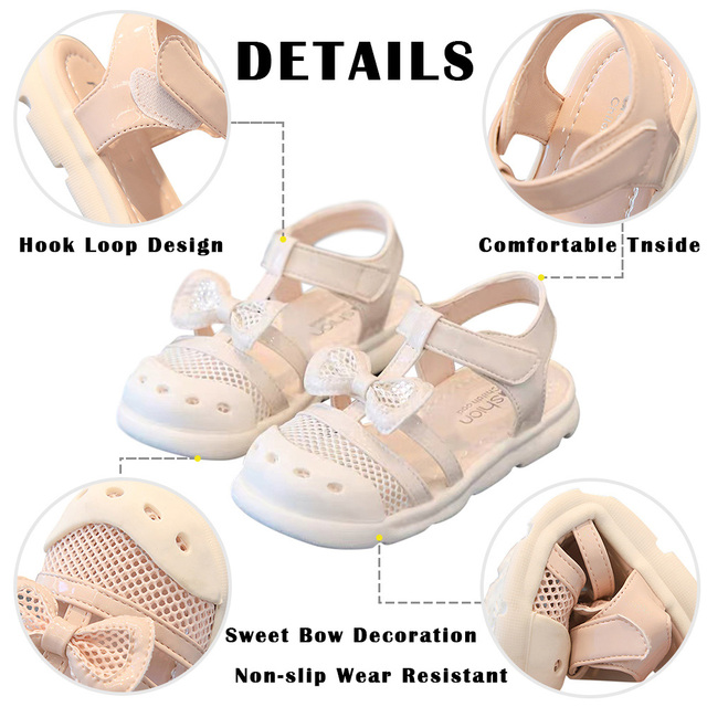 Summer Kids, Bowknot Sandals For Girls. Toddler, Baby.