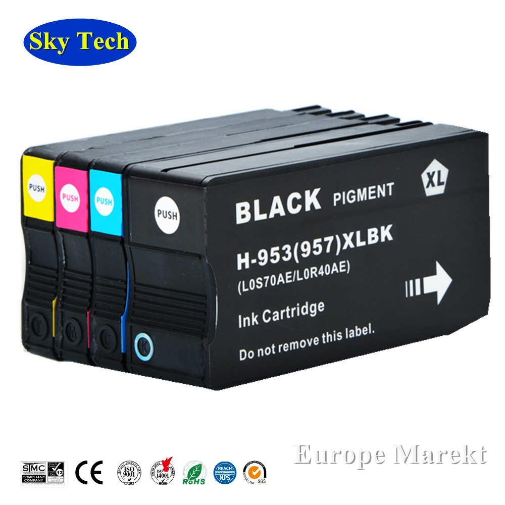 Compatible Ink Cartridge For HP953 HP957 XL ,For <font><b>HP</b></font> OfficeJet Pro 7720/7730/7740/8210/8710/8715/8720/8725/8728/8730/8740 Printer image