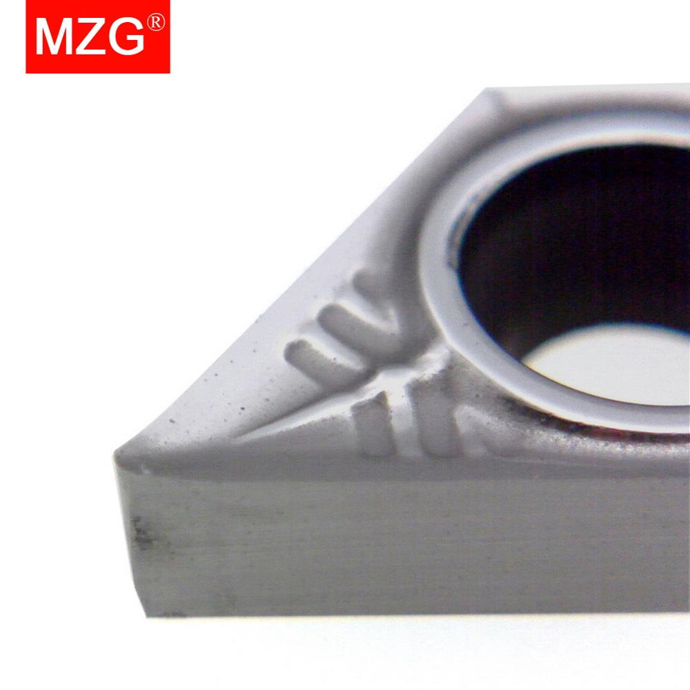 Купить с кэшбэком MZG Discount Price DCGT070204 Z ZPW10 CNC DCGT Boring Turning Lathe Cutting Tools Aluminum Copper Processing Carbide Inserts