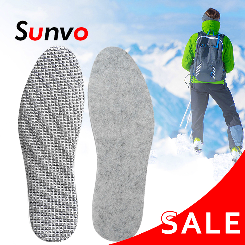 Felt Aluminum Foil Insoles Winter Warm Summer Cool Waterproof Wool Shoe Pads For Men Women Comfortable Insert Soles Dropshipping