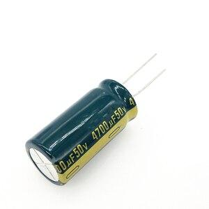 Image 1 - 2 adet/grup 50V 4700UF 18*35 alüminyum elektrolitik kondansatör 4700uf 50V 20%