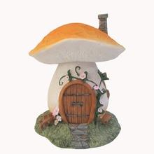Creative Mushroom house DIY home Ornament micro landscape resin figurine  Fairy Garden Decoration
