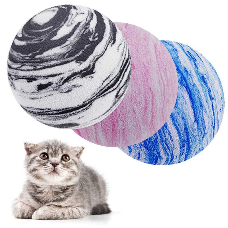 애완 동물 강아지 고양이 공 장난감 EVA 행성 질감 애완 동물 공 고양이 장난감 고양이 애완 동물 제품 씹는 고양이 치아 연삭 재미 용품