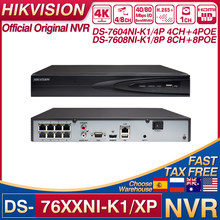 Hikvision NVR DS-7604NI-K1/4P DS-7608NI-K1/8P 4/8CH POE NVR 8MP H.265+ 1 SATA for POE IPC Security Network Video Recorder