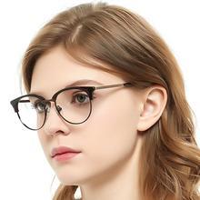 Vrouwen Ronde Bril Frame Optische Recept Computer Bijziendheid Transparante Glazen Clear Metalen Frame Licht Occi Chiari Oc3024