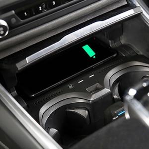 QI Беспроводное зарядное устройство для телефона, 10 Вт, аксессуары для BMW 3 серии G20 G28 2019 2020
