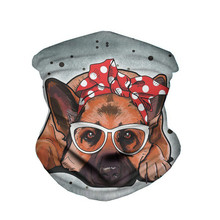 Scarf Cute Dog Pattern Bandana Women Neck Gaiter Half Face Mask Anti Dust UV Magic Headband Beanie Wristband Echarpe Femme