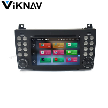 Android Car GPS radio Multimedia player for Benz R171 W171 Benz SLK R171 SLK200 2004-2011 car GPS navigation autoradio stereo image