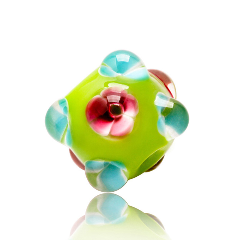 5pcs 14mmx15mm Dot Murano Glass Lampwork Beads for Making Bracelet Women Diy Accessories Round Eyes Loose Spacer Beads Wholesale