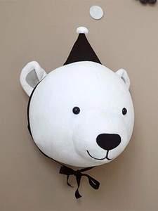 Decoration Unicorn Plush-Toys 3d-Animal-Heads Nursery Elephant Baby-Girls Wall-Hanging-Decor