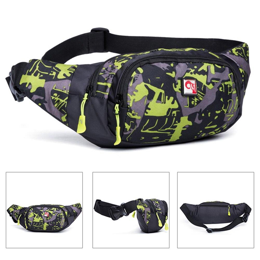 Outdoor Sport Waist Pack Bum Bag Money Hip Pouch Fanny Pack Gym Bag For Men Women Travel Running Hiking Fitness Money Purse