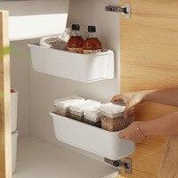 Estante de almacenamiento extraíble para debajo del fregadero, organizador de plástico para cocina, armario, contenedor, accesorios para el hogar