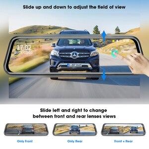 Image 4 - جانسايت 10 بوصة مرآة 2.5K + 1080P جهاز تسجيل فيديو رقمي للسيارات تيار وسائل الإعلام سوبر للرؤية الليلية شاشة تعمل باللمس سيارة كاميرا سيارة ثنائية العدسة وقوف السيارات وضع مسجل