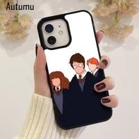 Caja del teléfono para iPhone 12 mini X XS X XR 11 Pro Max SE 2020 5 6 6S 7 8 Plus Samsung S9 S10 S20 La Harries Potter oro trío cubierta