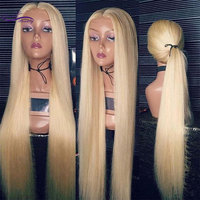 Straight 613 Blonde full lace human hair wigs Brazilian Remy Hair Pre Plucked Hairline 180 Density Full Lace Wig Dream Beauty