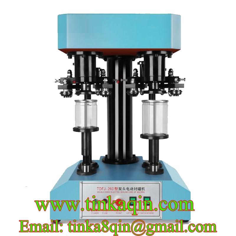 TDFJ-260 электрическая машина для запечатывания с двойной головкой, укупорочная машина, машина для запечатывания домашних животных, машина