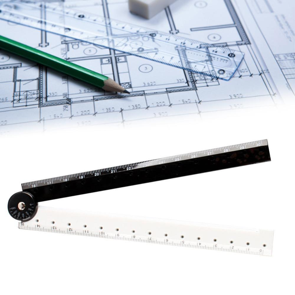 1Pc Black White Plastic Folding Straight Rulers 30Cm Drawing Design Ruler Set Of Drafting Rules Bullet Journal Supplies