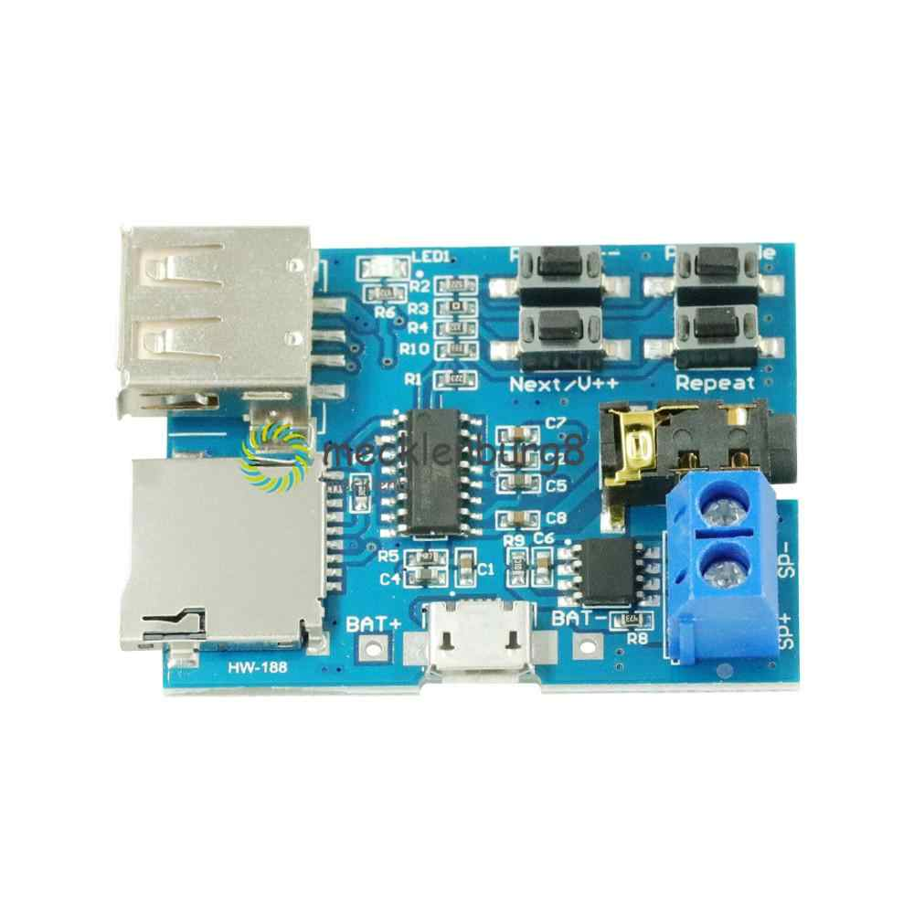 Micro USB MP3 Modul TF Kartu U Disk MP3 Format Decoder Papan Amplifier Decoding Audio Player Modul 3.7-5.5V Hot Sale
