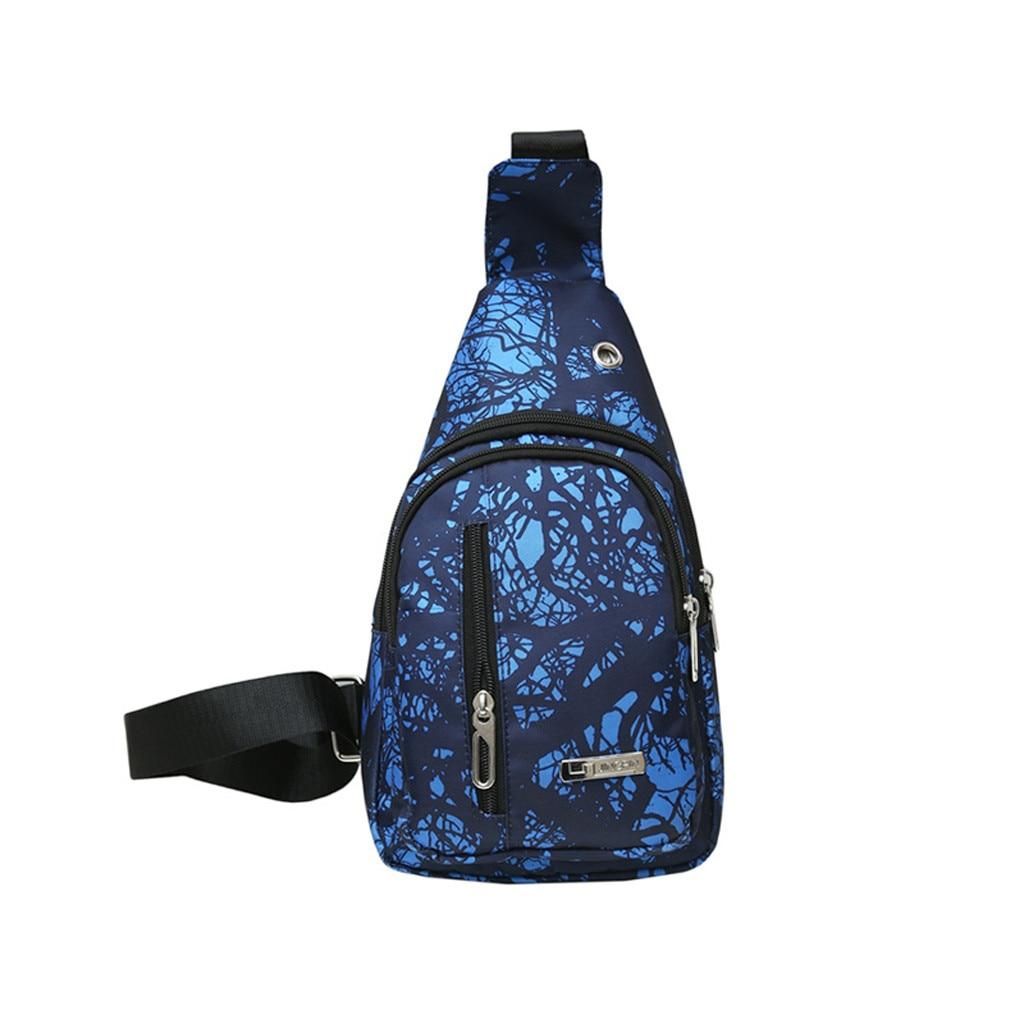 Mobile Phone Bag Waist Packs Unisex Lover Fashion Stone Rift Texture Shoulder Package Crossbody Chest Bag Streetwear Women&men